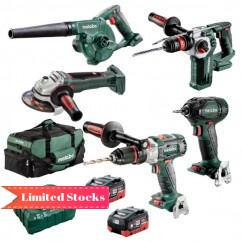 Metabo BL5LB2HD5.5H - 18V 5.5Ah Cordless Brushless 5 Piece Combo Kit AU68503000 Cordless Combo Kits