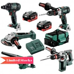 Metabo BL5LB2HD5.5K - 18V 5.5Ah Brushless Cordless 5 Piece Combo Kit AU68503155