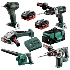 Metabo BL5LB2HD5.5M - 18V 5.5Ah Brushless Cordless 5 Piece Combo Kit AU68503255