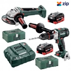 Metabo SB WB 125 BL M HD 5.5 - 18V 5.5Ah Brushless Cordless 2 Piece Combo Kit AU68902155