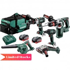 Metabo BL5LB2HD5.5I - 18V 5.5Ah Cordless Brushless 5 Piece Combo Kit AU68503055 Combo Kits 18v