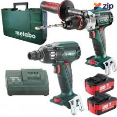 Metabo SB18LTXBLSSW400BL - 18V 5.2Ah Cordless Brushless 2 Piece Combo Kit