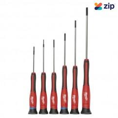 Milwaukee 48222606 - 6 Piece Precision Screwdriver Set w/ Case Screwdrivers