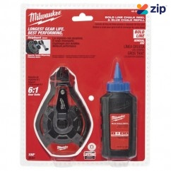 Milwaukee 48223982 - 30m Bold Line Chalk Reel Kit With Blue Chalk