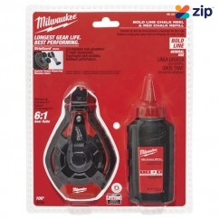 Milwaukee 48223986 - 30m Bold Line Chalk Reel Kit With Red Chalk