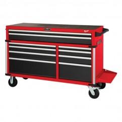"Milwaukee 48228555 - 56"" 10 Drawer Steel Storage High Capacity Tool Trolley"