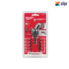 Milwaukee 48322301 30 Degree Pivot Knuckle Angle Drill Attachment With Bits Milwaukee Accessories