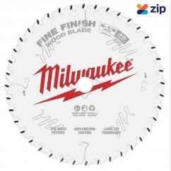 "Milwaukee 48400622- 165mm (6 1-2"") Finish 40T Circular Saw Blade  Milwaukee Accessories"