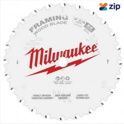 "Milwaukee 48400720 - 184mm (7 1-4"") Framing 24T Circular Saw Blade Milwaukee Accessories"