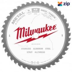 """Milwaukee 48404515 - 203MM (8"""") 42T General Purpose Metal Saw Blade Circular Saw Blades"""