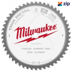 "Milwaukee 48404520 - 203MM (8"") 50T Thin Metal Saw Blade Circular Saw Blades"