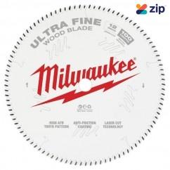 "Milwaukee 48408228  - 305mm (12"") Ultra Fine Finish 100T Circular Saw Blade Milwaukee Accessories"