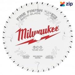 "Milwaukee 48408622 - 165mm (6-1/2"") Fine Finish 40T Circular Saw Blade Milwaukee Accessories"