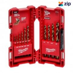 Milwaukee 48892340 - 15 Piece Red Helix Cobalt Imperial Drill Bit Kit