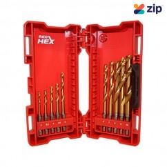 Milwaukee 48894759 - 10 PC SHOCKWAVE Red Hex Titanium Kit Masonry
