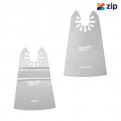"Milwaukee 49252202 - 2 Piece OPEN-LOK 50mm (2"") Rigid & 50mm (2"") Flexible Scraper Variety"