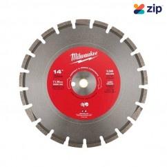"Milwaukee 49937240 - 350mm 14"" Diamond Asphalt Green Concrete Segmented Blade"