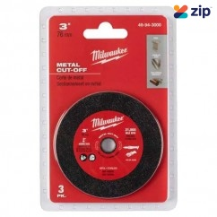 Milwaukee 49943000 - 3 Piece 76mm Metal Cut-Off Wheel