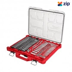 """Milwaukee 48229486 - 106 Piece 1/4"""" & 3/8"""" Drive Metric & SAE Ratchet & Socket Set with PACKOUT Socket Sets"""
