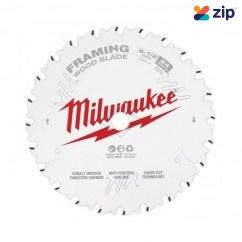 "Milwaukee 48418620 - 165mm (6-1/2"") Framing 24T Circular Saw Blade (Single Pack)  Milwaukee Accessories"