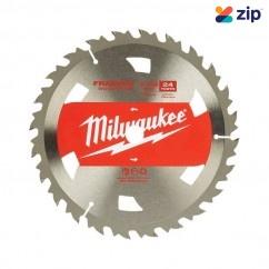 "Milwaukee 48418710 - 184mm (7-1/4"") Basic Framing 24T Circular Saw Blade (Single Pack) Milwaukee Accessories"