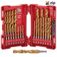 Milwaukee 48894861 - 2-13mm 25 Piece SHOCKWAVE Red Helix Metric Titanium Drill Bit Set