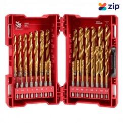 Milwaukee 48894862 - 2-13mm 29 Piece SHOCKWAVE Red Helix Metric Titanium Drill Bit Set Drill/Driver Bit Sets