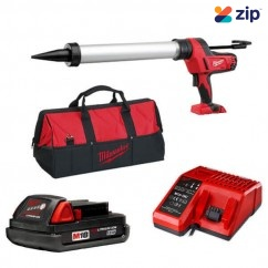 Milwaukee C18PCG600A-201B - 18V 600ML Cordless Aluminium Barrel Caulking Gun Kit Cordless Caulking Guns