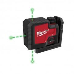 Milwaukee L43PL-301C - 3 Point Rechargeable USB REDLITHIUM Laser Kit Laser Distance Measurers