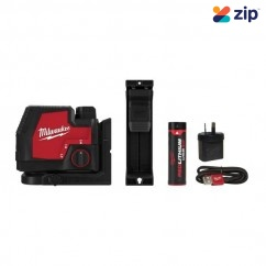 Milwaukee L4CLL-301C - Cross Line Rechargeable USB REDLITHIUM Laser Kit Laser Distance Measurers