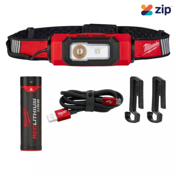 Hard Hat Headlamp USB Rechargeable with FREE Pen Light