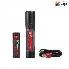 Milwaukee L4TMLED-201 - 1100 Lumens USB Rechargeable Twist Focus Flashlight Kit Torch with Rechargeable Batteries
