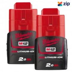 Milwaukee M12B22 - 12V 2.0Ah REDLITHIUM-ION Battery Twin Pack Batteries