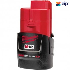 Milwaukee M12B3 - 12V 3.0Ah Red Lithium-Ion Battery Batteries & Chargers