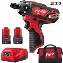 "Milwaukee M12BD-152B - 12V 2.0AH LI-ION 1/4"" Hex Chuck Drill Driver Kit"
