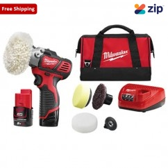 Milwaukee M12BPS-202B - 12V 2.0Ah M12 Variable Speed Polisher/Sander Kit Cordless Sanders
