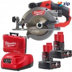 Milwaukee M12CCS44-402C 12V FUEL Cordless Lithium-Ion 140mm Brushless Circular Saw Kit Cordless Circular Saws