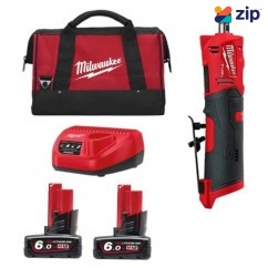 Milwaukee M12FDGS-602BA - 12V 6.0Ah Cordless M12 FUEL Straight Die Grinder Kit Die Grinders