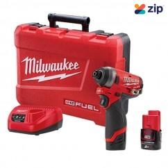 "Milwaukee M12FID-202C - 12V 2.0Ah Fuel 1/4"" Hex Impact Driver Kit Cordless Drills - Impact"