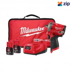 "Milwaukee M12FIWF12-202B - M12 FUEL 1/2"" Stubby Impact Wrench Kit Impact Wrenches"