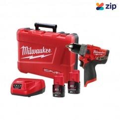 Milwaukee M12FPD-202C - 12V 13mm 39.6Nm Brushless Cordless Hammer Drill/Driver Kit Cordless Drills - Impact
