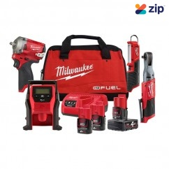 Milwaukee M12FPP4A-423B - 12V FUEL Cordless 4 Piece Power Pack 4A  12V Brushless Combo Kits