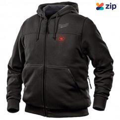Milwaukee M12HHBLACK9-0L - 12V Cordless Black Heated Hoodie Skin - Large Size Jackets