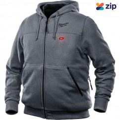 Milwaukee M12HHGREY9-0L - 12V Cordless Grey Heated Hoodie Skin - Large Size Jackets