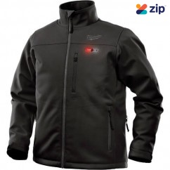 Milwaukee M12HJBLACK9-0L - 12V Cordless Black Heated Jacket Skin - Large Size Jackets