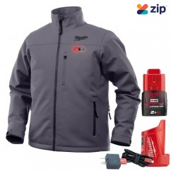 Milwaukee M12HJGREY9-0XL - 12V Cordless Grey Heated Jacket Skin - Extra Large Size