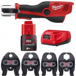 Milwaukee M12HPT-1532K - M12 12V 2.0Ah FORCE LOGIC Press Tool and Jaws Kit Press Tools
