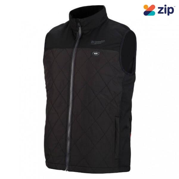 Milwaukee M12HVMBLACK9-0L - 12V Cordless AXIS Black Heated Vest Skin - Large Size Jackets