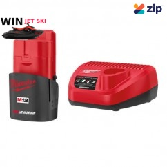 Milwaukee M12SP-151B - 12V Charger and 1.5Ah REDLITHIUM Battery Combo Kit Batteries & Chargers