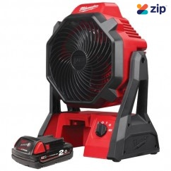 Milwaukee M18AF-201 - 18V Li-ion Cordless Jobsite Fan with 2.0Ah Battery M18B2
